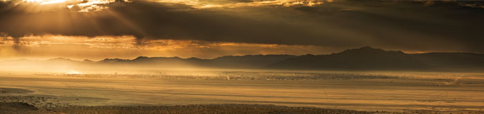 sunup, sunrise, Burning Man, Black Rock Desert, storm clouds