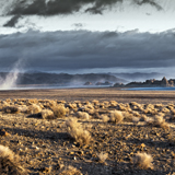 pyramid lake sunup dust storm nevada great basin photograph lahonton