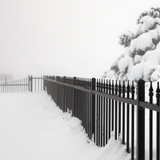Fence in Snow in Virginia City Nevada